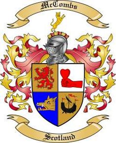 McCombs Family Coat of Arms from Scotland
