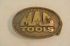 Mac Tools Dallas 1994 Unleashing the Power of Productivity Vintage Belt Buckle
