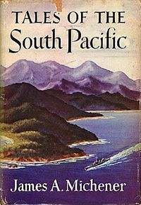 1948 Tales of the South Pacific is a Pulitzer Prize-winning book, which is a collection of sequentially related short stories about World War II, written by James A. Michener in 1946 and published in 1947. The stories were based on observations and anecdotes he collected while stationed as a lieutenant commander in the US Navy on the island of Espiritu Santo in the New Hebrides Islands (now known as Vanuatu).