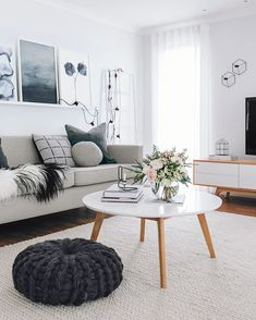 One of the comfy and attractive living room layouts is a Scandinavian living room. Scandinavian living room designs have numerous models. One of them is the Scandinavian living room minimalist. Scandinavian Design Living Room, Living Room Inspiration, Room Inspiration, Living Room Scandinavian, Scandinavian Interior Design, Living Decor, Living Room Windows, Home Decor, House Interior
