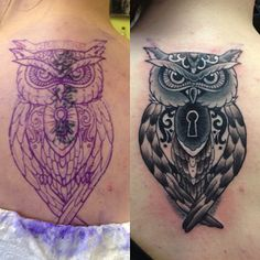owl tattoo cover up - Google Search