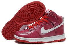 Top Fashion Nike Dunk SB High Top Sneakers For Women Red White Shoes Online Outlet