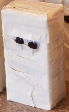 Duct Tape Mummy Juice Box for Halloween Party as featured on DuctTapeFashion.com #ducttape