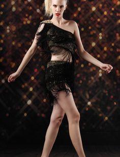 Stunning  Black Asymmetrical Party Dress #ShopSimple