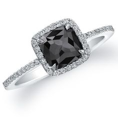 black diamond engagement ring - wedding-inspirations