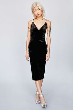 Ophelia Crushed Velvet Bodycon Dress   Simple, but makes a statement.