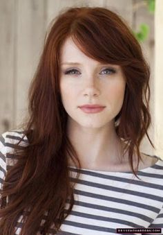 Dark brownish red auburn hair color