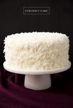 Coconut Cake - this is one of the best cakes I've ever made! So soft and tender and perfectly moist. Love the coconut cream cheese frosting too.