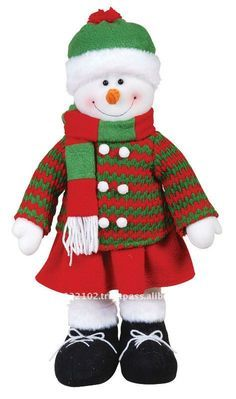 """18 """" de pie muñeco de nieve ( niña )-Suministros de Decoración de ..."""