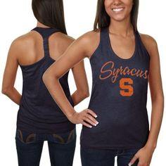 Syracuse Orange Ladies Hugo Melange Racerback Tank - Navy Blue