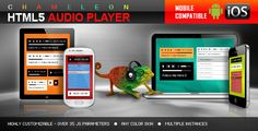 Chameleon HTML5 Audio Player With/Without Playlist (Media)