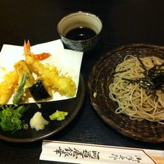 """ Ten-zaru ""Tempura&Soba set meal 天ざる"