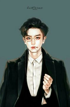 exo, chanyeol, and fanart image