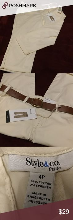 New Scalloped Edge Lace Trim Ivory Trousers Size 14 Waist 33 Inches BNWT