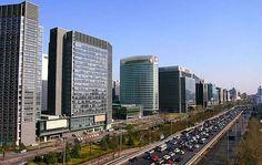 Rue de la finance à Pékin, le centre économique de Pékin.