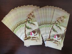 Set of 18 Vintage Christmas Greeting Cards – Unused No Envelopes by fromThePeddlersCart on Etsy