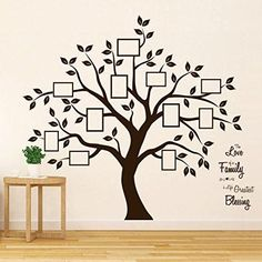 Timber Artbox Beautiful Family Tree Wall Decal with Quote - The Only Décor You Need for Living Room &. Timber Artbox Beautiful Family Tree Wall Decal with Quote - The Only Décor You Need for Living Room &. Family Tree Photo, Family Tree Art, Family Tree Wall Decal, Family Wall, Family Tree Quotes, Family Tree Designs, Tree Wall Decals, Family Tree Wallpaper, Family Tree Templates