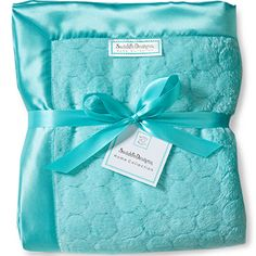 Yep, an Adult Swaddle blanket...Adult Luxury Throw - Turquoise Jewel Tone Puff Circle by SwaddleDesigns