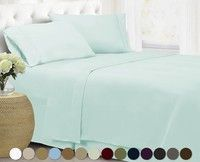 Wish | Home Collection Super Soft Double Brushed Microfiber 1800 Series Bed Set (U.S. Seller), Wrinkle Free, Hypoallergenic, Deep Pocket Sheets, Bedding, Sheet Set, Twin, Full, Queen, King #DoubleBedSheets
