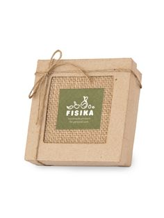 Burlap and kraft paper gift box with olive oil soap bar from Crete, eco special gift for him or her, set of your choice