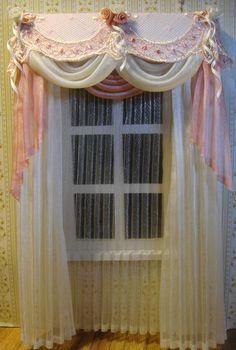 Image result for dollhouse miniature curtains