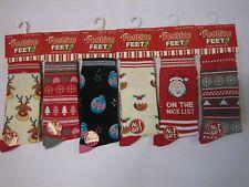 Ladies Christmas Socks Ladies Girls Novelty Socks Stocking Filler Santa Reindeer