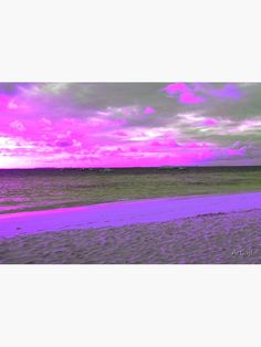 """""""Early morning sandy beach and sea - shades of purple and pink"""" Photographic Print by Artlajf. Available in several size and also as canvas print and posters. Modern Pop Art, Exotic Beaches, Shades Of Purple, Early Morning, Nature Photos, Photo Art, Canvas Prints, Wall Art, Creative"""