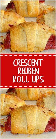 Crescent Reuben Roll Ups #crescent #reuben #roll #foodlover #homecooking #cooking #cookingtips