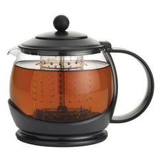Tetera con sistema de corte de infusión para asegurar que las hojas de té no sigan en contacto con el agua de tal forma que se obtenga el mejor sabor Los orificios del filtro permiten el contacto del agua con el té durante la infusión
