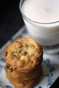 Chocolate Chip Cookies & Ice Cold Milk
