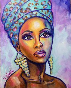 Girl Paintings, Painting Of Girl, Shabby Chic Art, Rooster Painting, Modern Art, Contemporary, African Girl, Boho Girl, Girl Face