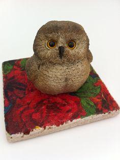 Owl Figurine - Backyard Birds by Susan Bradford for United Design Corp - Nice…