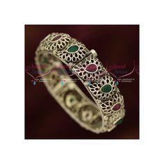 Mango Design Silver Oxidised Antique Kada Bangle Latest Jewellery Online Width of the main design is 15 mm. Gold Plated Bangles, Latest Jewellery, Oxidized Silver, Ruby Red, Mango, Plating, Perfume, Diamond, Antiques