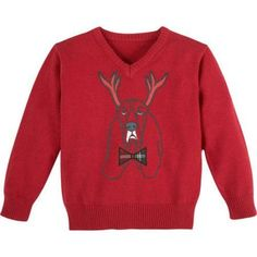 G-Cutee Boys Red Reindeer Dog Sweater