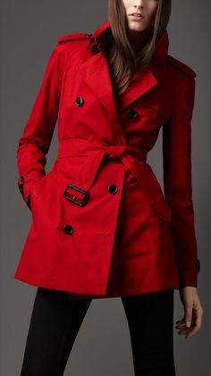 Red Trench Coats For Women