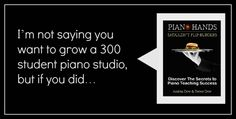 Great resource for building a piano teaching studio. eBook & well worth more than it's price!