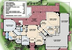 Second Floor Family Room and Lanai - floor plan - Main Level Tuscan House Plans, Modern House Plans, Architectural Design House Plans, Architecture Design, Summer Kitchen, Breath Of Fresh Air, Walk In Shower, Lanai, Sliding Glass Door