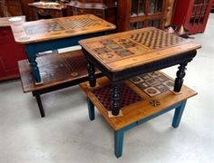 game coffee tables, made in QC
