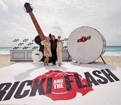 """(L-R) Writer Diablo Cody, actors Rick Springfield, and Mamie Gummer attend the """"Ricki and the Flash"""" photo call during Summer Of Sony Pictures Entertainment 2015 at The Ritz-Carlton Cancun on June 2015 in Cancun, Mexico. Ricki And The Flash, Diablo Cody, Mamie Gummer, Sony Pictures Entertainment, Rick Springfield, Meryl Streep, Photo L, Entertaining, June 16"""