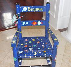 Custom Hand Painted Child's Rocking Chair by erinhisledesigns, $105.00