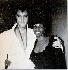 Elvis Presley and Cissy Houston : Las Vegas, August 1969.