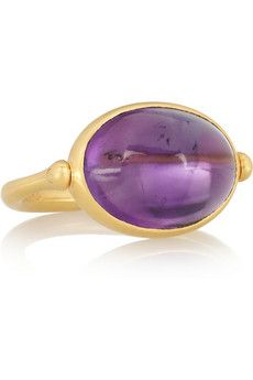 Marie-Hélène de Taillac Swivel 22-karat gold amethyst ring   NET-A-PORTER