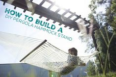 How to Build a DIY Pergola Hammock Stand on a budget