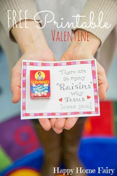 Adorable and inspirational FREE Printable Valentine (and it is healthy!)