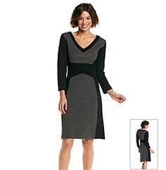 Madison Leigh Colorblock Sweater Dress