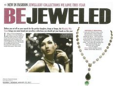 Afternoon DC features our stunning diamond necklace in the latest magazine coverage