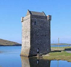 Rockfleet Castle, or Carrickahowley Castle, Achill Island, County Mayo, Ireland. www.castlesandmanorhouses.com Rockfleet Castle is a tower house built in the mid-sixteenth century, and is most famously associated with Gráinne O'Malley (Grace...
