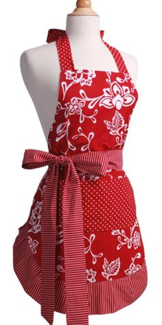 I LOVE aprons.  I wear them every day and I think this one needs to be in my collection!