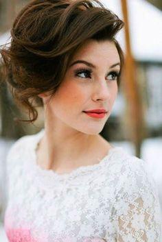 short vintage wedding hair - Google Search