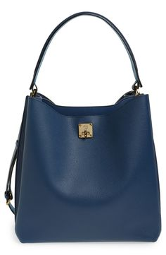 MCM 'Large Milla' Leather Hobo available at #Nordstrom